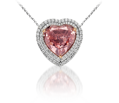 watches sterling ct s fpx sapphire t silver jewelry necklaces accent and macy product pink heart shop diamond w pendant in necklace